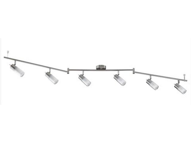 Lampa sufitowa Zygla 6x7W GU10 230V żelazo satynowe metal szkło Paulmann