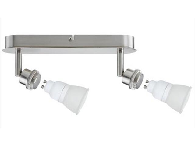 Lampa sufitowa DecoSystem 2x7W GZ10 230V żelazo satynowe metal Paulmann