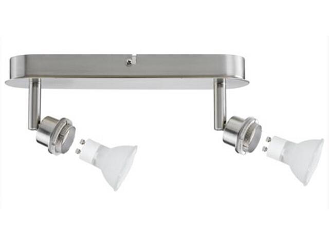 Lampa sufitowa DecoSystem 2x40W GZ10 230V żelazo satynowe metal Paulmann