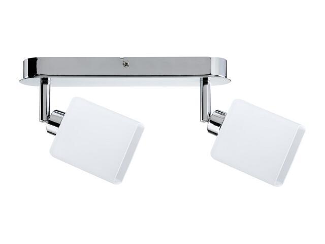 Lampa sufitowa Quad listwa 2x9W GZ10 Chrom / biała 230V metal / szkło Paulmann