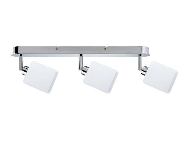 Lampa sufitowa Quad listwa 3x9W GZ10 Chrom / biała 230V metal / szkło Paulmann