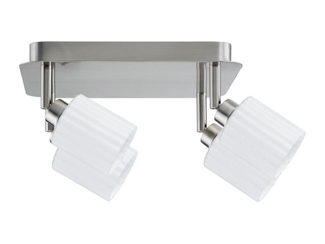 Lampa sufitowa Zylino 4x9W GZ10 żelazo sat. / biała 230V metal / szkło Paulmann