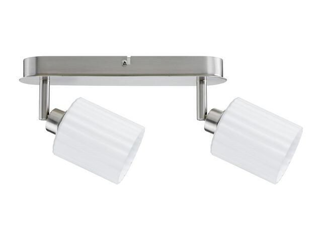 Lampa sufitowa Zylino listwa 2x3W żelazo sat./biała 230V metal / szkło Paulmann
