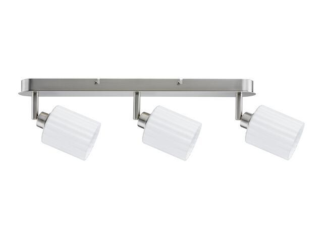 Lampa sufitowa Zylino listwa 3x3W żelazo sat./biała 230V metal / szkło Paulmann