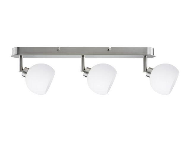 Lampa sufitowa Wolbi listwa 3x9W GZ10 żelazo sat./biała 230V metal/szkło Paulmann