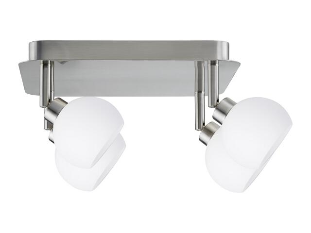 Lampa sufitowa Wolbi 4x9W GZ10 żelazo sat. / biała 230V metal / szkło Paulmann