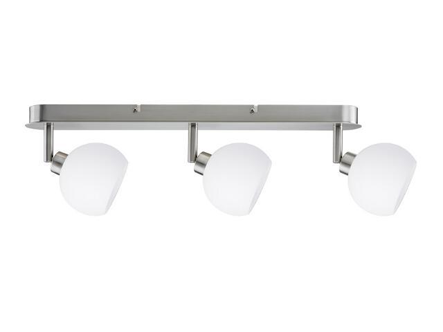 Lampa sufitowa Wolbi listwa 3x40W GZ10 żelazo sat./biała 230V Paulmann
