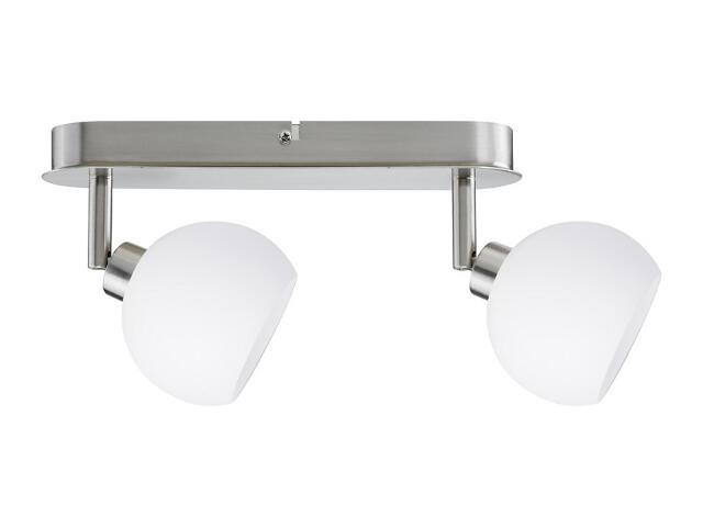 Lampa sufitowa Wolbi listwa 2x3W żelazo sat./biała 230V metal / szkło Paulmann