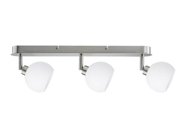 Lampa sufitowa Wolbi listwa 3x3W żelazo sat./biała 230V metal / szkło Paulmann