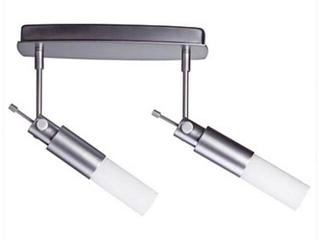 Oprawa ścienno-sufitowa Pharus energooszczędna 2x9W E14 chrom mat opal Paulmann
