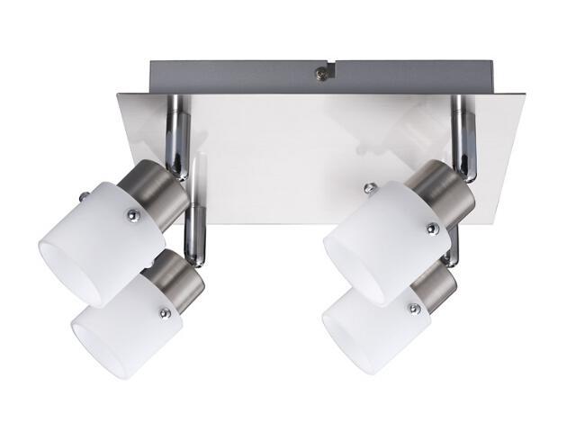 Lampa sufitowa 4x40W G9 żelazo satyna szklo opal Paulmann