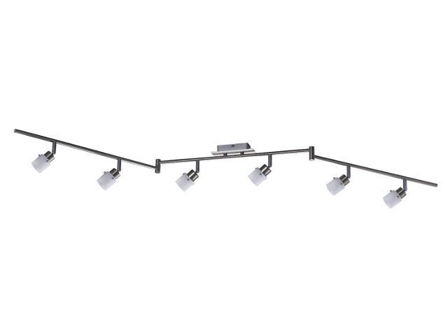 Lampa sufitowa listwa 6x40W G9 żelazo satyna szklo opal Paulmann