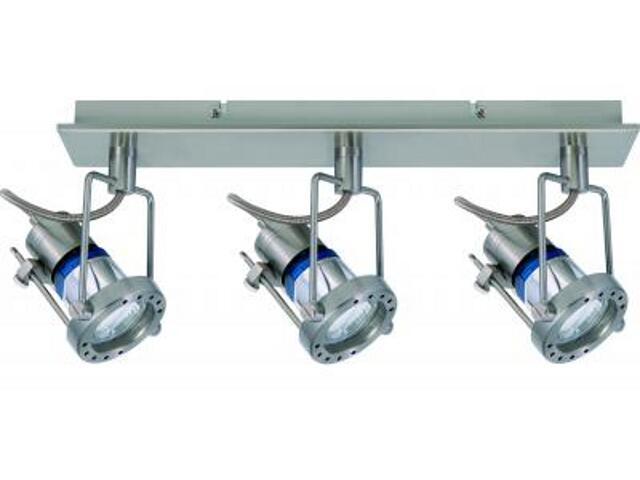 Oprawa ścienno-sufitowa Techno energooszczędna 3x11W GU10 żelazo satynowe Paulmann