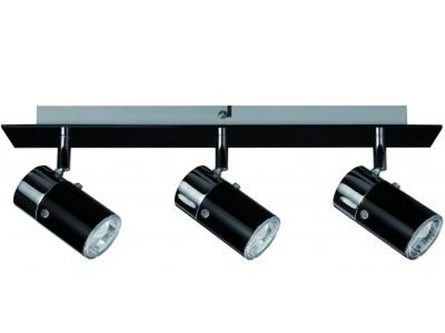 Lampa sufitowa Zyli energooszczędna 3x7W GU10 czarna chrom Paulmann