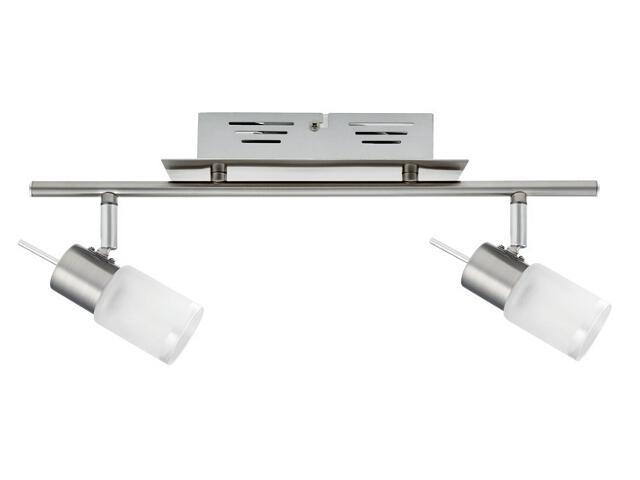 Lampa sufitowa ZyLed listwa 2x3W żelazo sat. 230V/12V metal / szkło Paulmann
