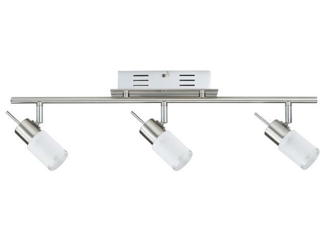 Lampa sufitowa ZyLed listwa 3x3W żelazo sat. 230V/12V metal / szkło Paulmann