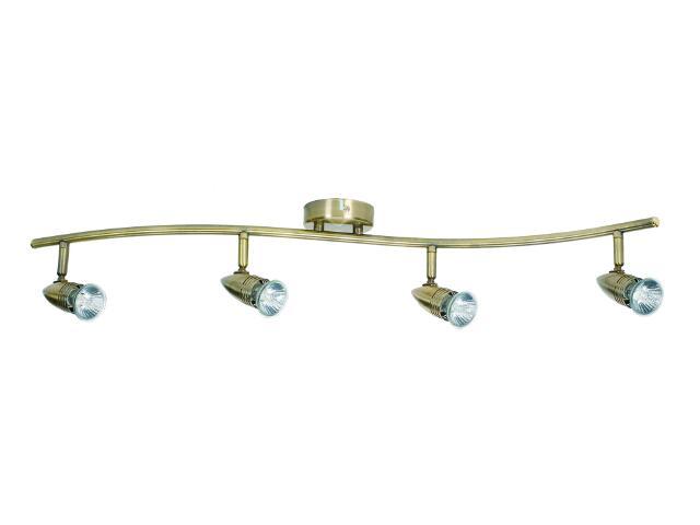 Oprawa ścienno-sufitowa Emilia 4 4x50W GU10 złoto antyczne Sanneli Design