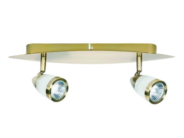 Lampa sufitowa listwa NATASZA 2 2x50W GU10 złoto antyczne Sanneli Design