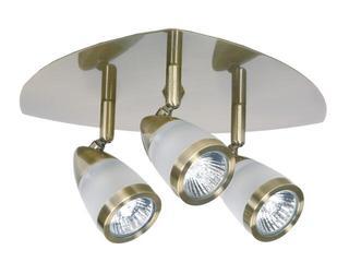 Oprawa ścienno-sufitowa NATASZA 3 3x50W GU10 złoto antyczne Sanneli Design