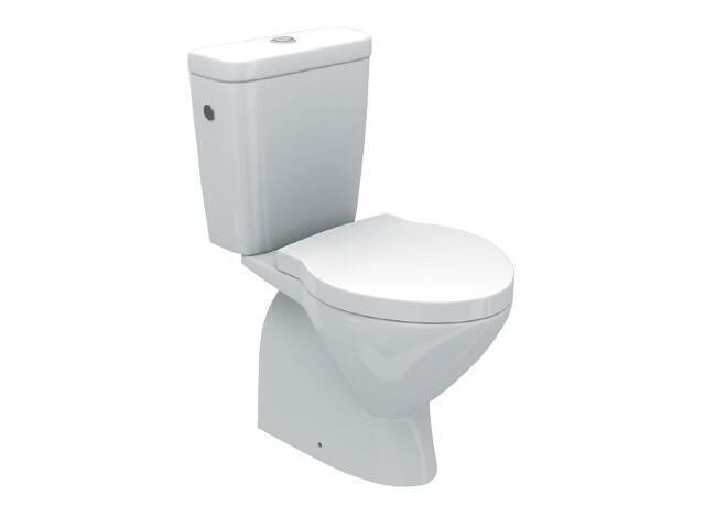 Miska WC stojąca kompaktowa VIVA COMPACT odpływ poziomy WM821024Z00LDF1 Roca Zoom