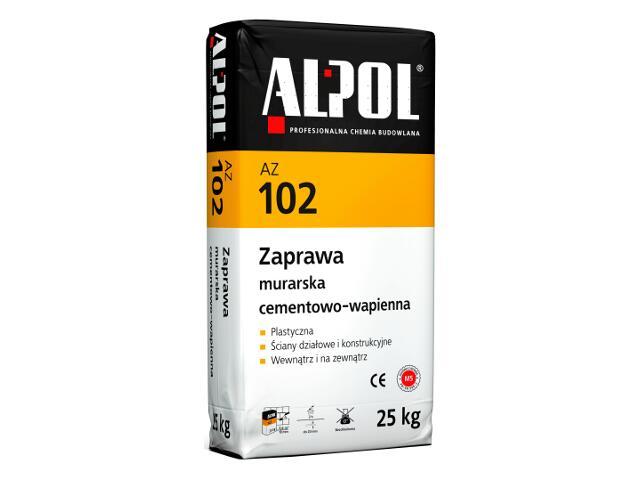 Zaprawa murarska cementowo-wapienna AZ102 25kg Alpol