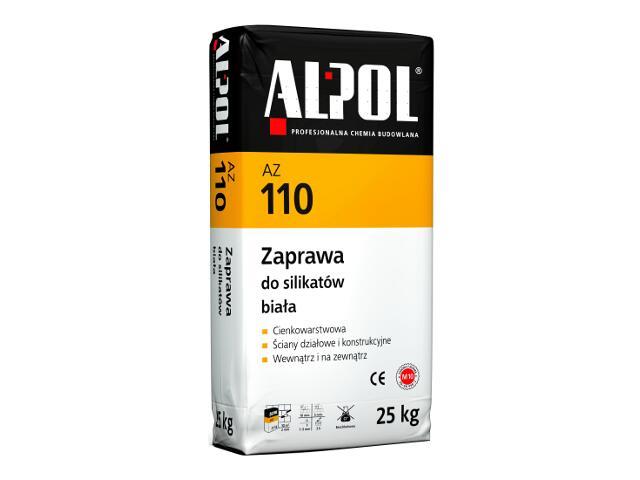 Zaprawa murarska do silikatów cienkowarstwowa biała AZ110 25kg Alpol