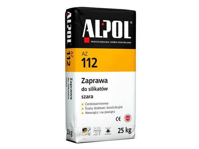 Zaprawa murarska do silikatów cienkowarstwowa szara AZ112 25kg Alpol