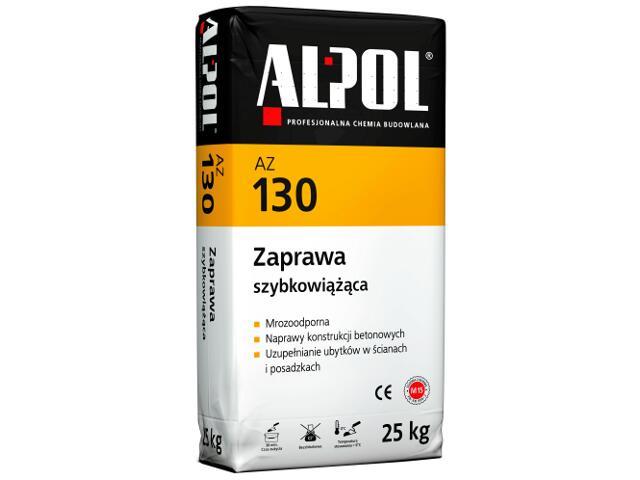 Zaprawa naprawcza szybkowiążąca AZ130 25kg Alpol