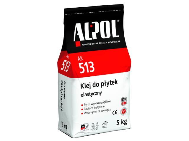 Zaprawa klejowa elastyczna do płytek AK513 5kg Alpol