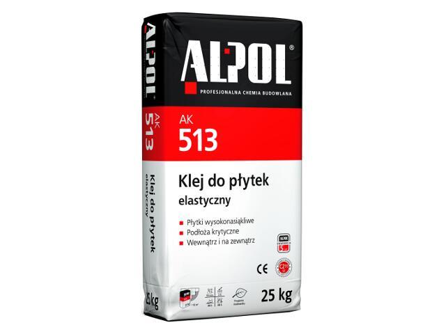 Zaprawa klejowa elastyczna do płytek AK513 25kg Alpol