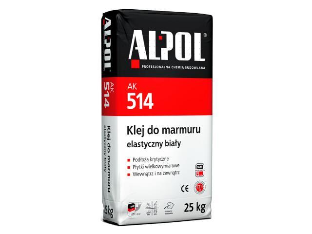 Zaprawa klejowa do marmuru elastyczna biała AK514 25kg Alpol