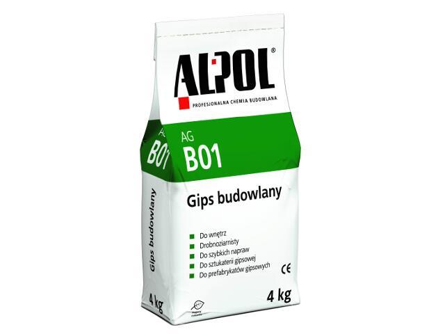 Gips budowlany AGB01 4kg Alpol