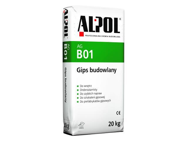 Gips budowlany AGB01 20kg Alpol