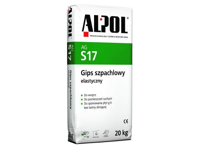Gips szpachlowy elastyczny AGS17 20kg Alpol