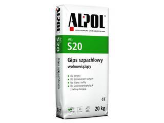 Gips szpachlowy wolnowiążący AGS20 20kg Alpol