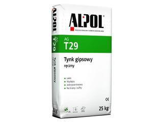 Tynk gipsowy ręczny AGT29 25kg Alpol