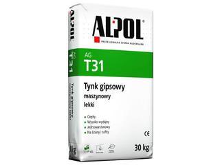 Tynk gipsowy maszynowy lekki AGT31 30kg Alpol