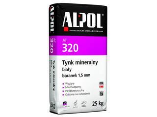 Tynk mineralny baranek biały 1,5mm AT320 25kg Alpol