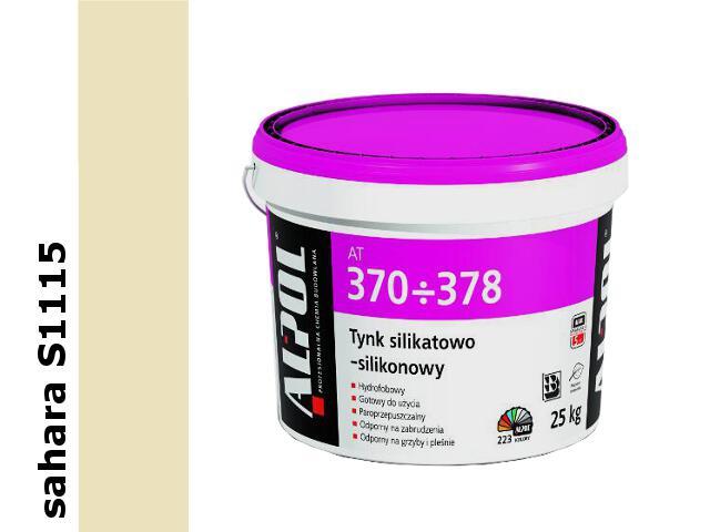 Tynk silikatowo-silikonowy baranek 1,5mm S1115 IIgr. AT371 25kg Alpol