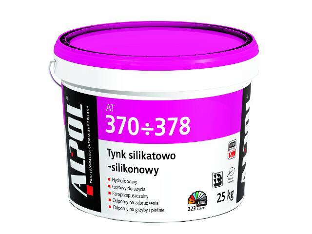 Tynk silikatowo-silikonowy kornik 2mm Igr. AT377 25kg Alpol