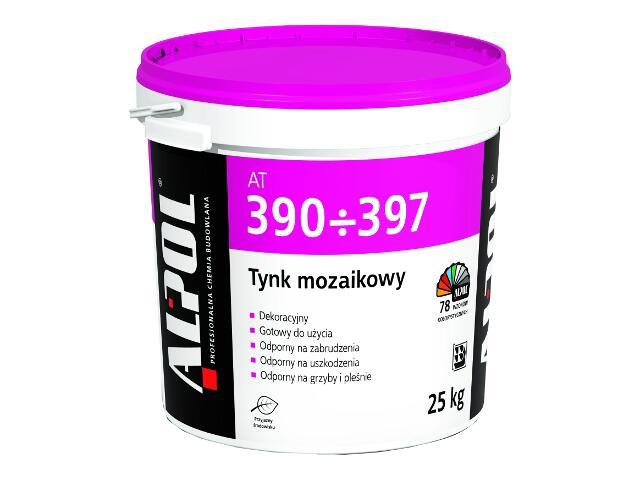 Tynk mozaikowy barwiony wewnętrzny 1,2mm AT396 25kg Alpol