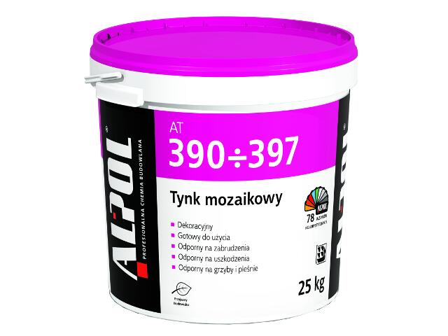 Tynk mozaikowy barwiony 2,5mm AT397 25kg Alpol