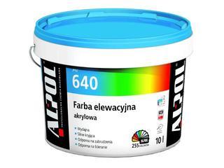 Farba elewacyjna akrylowa I gr. AF640 10l Alpol