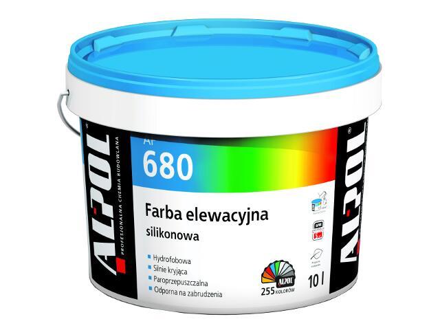 Farba elewacyjna silikonowa I gr. AF680 10l Alpol