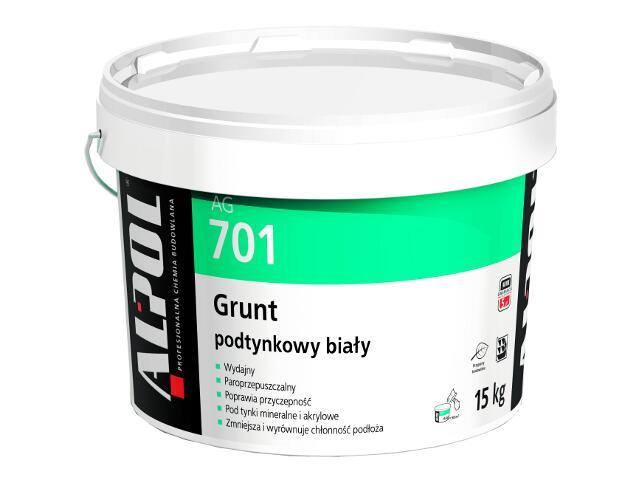 Grunt podtynkowy biały AG701 15kg Alpol