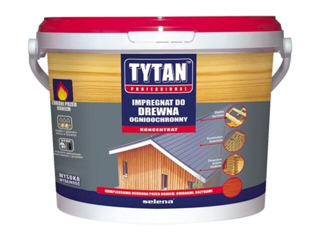 Impregnat do drewna ognioochronny czerwony 20kg Tytan