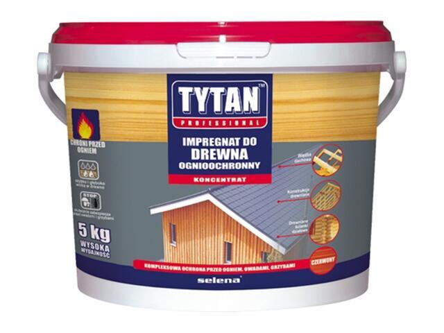 Impregnat do drewna ognioochronny czerwony 5kg Tytan