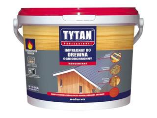 Impregnat do drewna ognioochronny zielony 5kg Tytan