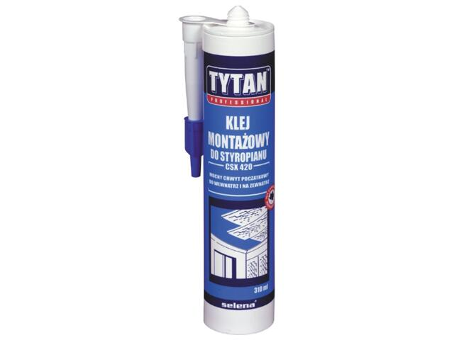Klej do styropianu CSX420 310ml Tytan