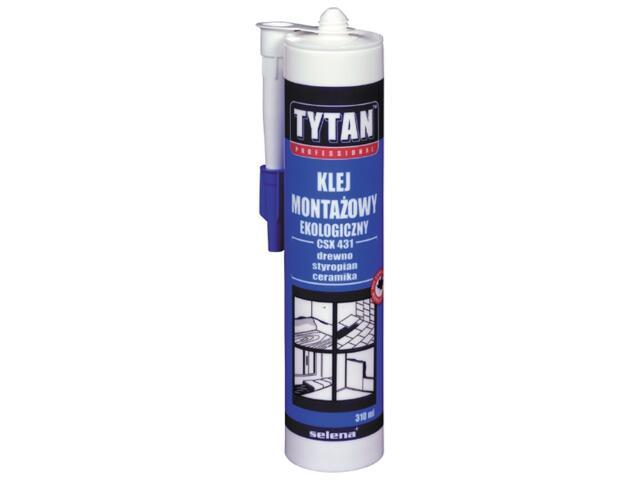 Klej montażowy ekologiczny 310ml Tytan